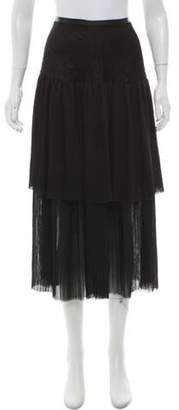 Prabal Gurung Silk Pleated Skirt w/ Tags Black Silk Pleated Skirt w/ Tags