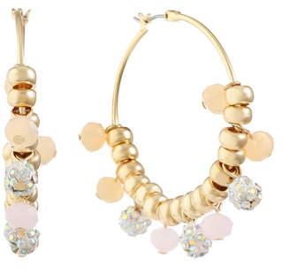 Liz Claiborne White 40mm Hoop Earrings