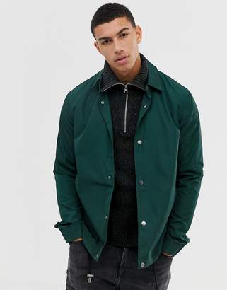 Asos DESIGN coach jacket in bottle green