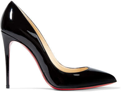 Christian Louboutin - Pigalle Follies 100 Patent-leather Pumps - Black