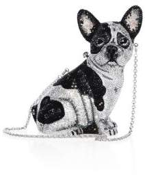 Judith Leiber Couture Fred French Bulldog Crystal Clutch
