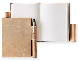 Leather Notebook with Pen Holder, Small