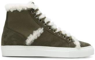 Yves Salomon Accessories shearling high-top sneakers