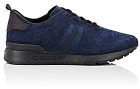 Tod's MEN'S PERFORATED NUBUCK SNEAKERS-NAVY SIZE 12 M