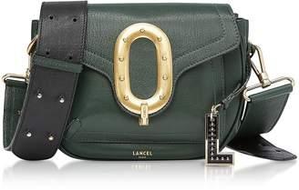 Lancel Romane Medium Dark Green Saddle Bag