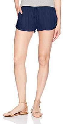 Roxy Women's Mystic Topaz Woven Pull-on Beach Shorts
