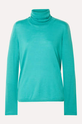 Max Mara Wool Turtleneck Sweater - Turquoise
