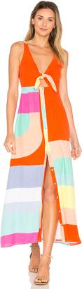 Mara Hoffman Tie Front Midi Dress $365 thestylecure.com