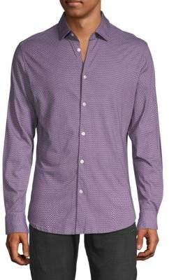 Stone Rose Geometric-Print Button-Down Shirt