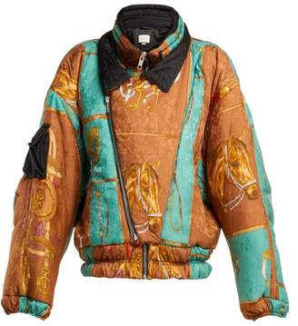 Gucci Equestrian Print Padded Jacket - Womens - Multi