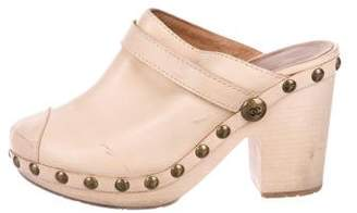 Chanel Embellished Cap-Toe Clogs