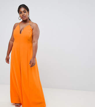 Asos DESIGN Curve jumpsuit with super wide leg