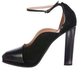 Dries Van Noten Suede Ankle Strap Pumps