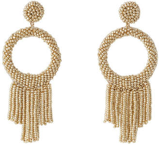 Basque Statement Seed Bead Drop Earring Gold