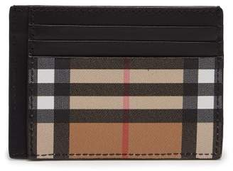 Burberry Vintage Check Leather Cardholder - Mens - Tan Multi