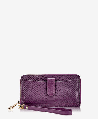 GiGi New York City Wallet, Acai Embossed Python