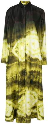 Christian Pellizzari tie-dye shirt dress