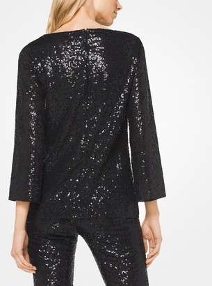 Michael Kors Sequined Stretch-Tulle Tunic