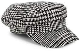 Collection 18 Houndstooth Newsboy Cap