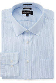 Trim-Fit Regular-Finish Blue Shadow Dress Shirt