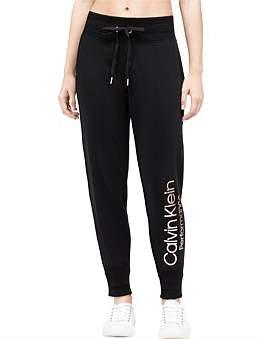 Calvin Klein Rib Trim Logo Fleece Pant