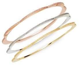 Kate Spade Set of 3 Pave Crystal Bangle Bracelets