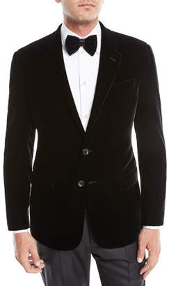 Giorgio Armani Men's Velvet Two-Button Jacket