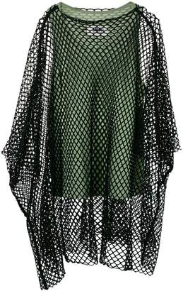 MM6 MAISON MARGIELA mesh overlay top
