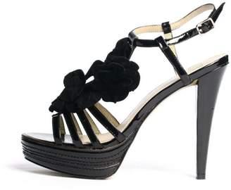 Kelsi Dagger Hania Black Flower Heels $120 thestylecure.com