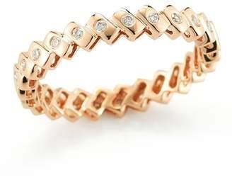 DANA REBECCA 14K Rose Gold Diamond Sophia Ryan Stacking Band - 0.19 ctw - Size 7