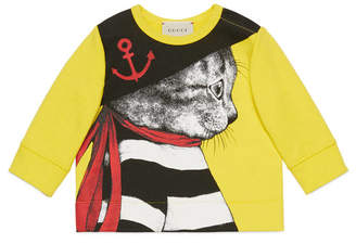Gucci Baby sweatshirt with sailor cat print