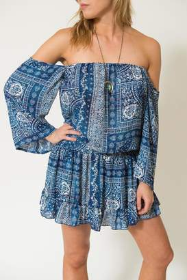 Surf Gypsy Bandana Off-Shoulder Tunic