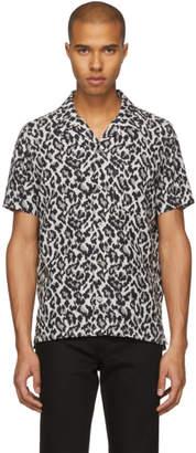 Attachment Grey Short Sleeve Leopard Shirt