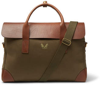 Bennett Winch Twill And Full-grain Leather Briefcase