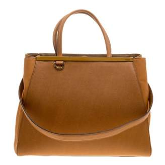 Fendi 2Jours Yellow Leather Handbag