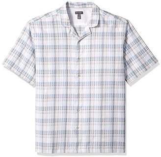 Van Heusen Men's Air Pucker Texture Short Sleeve Shirt