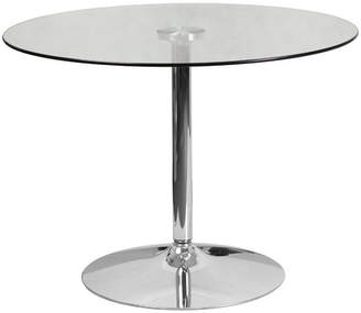 Wade Logan Cavell Round Glass Dining Table