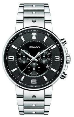 Movado SE Pilot Chronograph Watch, Silver/Black $1,695 thestylecure.com