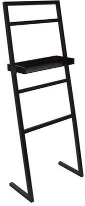 Laurèl Kate and McGrath Decorative Ladder with Display Shelf Black
