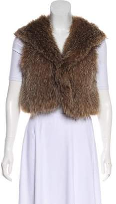Theory Hooded Fur Vest