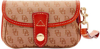 Dooney & Bourke Mini Signature Flap Wristlet