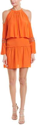 Ramy Brook Cold-Shoulder Drop Waist Dress