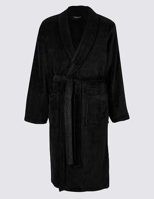 Marks and Spencer Fleece Checked Dressing Gown with Belt