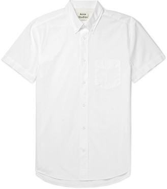 Acne Studios Isherwood Button-Down Collar Cotton-Poplin Shirt $210 thestylecure.com