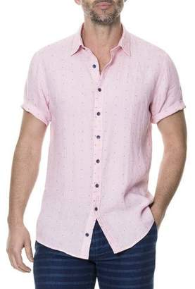 Rodd & Gunn Men's Landmark Dotted Linen-Blend Sport Shirt