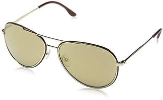 Police S8299 Glory Aviator Sunglasses, GOLD FRAME/BROWN GRADIENT LENS