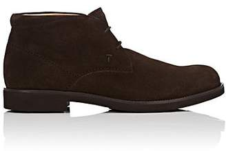 Tod's MEN'S SUEDE CHUKKA BOOTS - BROWN SIZE 6.5 M