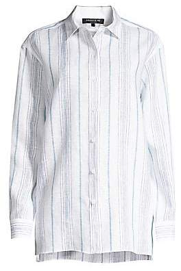 Lafayette 148 New York Women's Everson Linen Button-Down Shirt