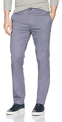 Louis Raphael Men's Slim Fit Flat Front Super Twill Stretch Cotton Pant