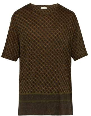 Etro Linen T Shirt - Mens - Green Multi